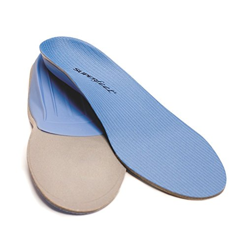 Superfeet Premium Full Length Insoles - Medium Arch, Size D: Women's 8.5-10/Men's 7.5-9, Blue by Superfeet