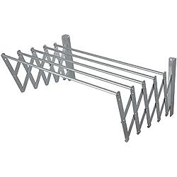 BriTools Tendedero Extensible Pared, Aluminio, 160 cm