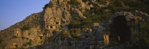 Lycian Rock (The Poster Corp Panoramic Images - Tombs on a cliff Lycian Rock Tomb Antalya Turkey Photo Print (91,44 x 30,48 cm))
