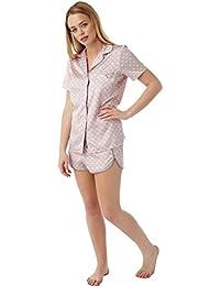 2749960837ffe Indigo Sky Ladies Satin Matt Silk Touch Murcia Print Short Pyjama