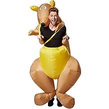 dressforfun Disfraz montado en canguro inflable adulto | Funciona con pilas | Máxima libertad de movimiento