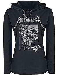 Metallica Damage Skull Manches Longues à capuche noir