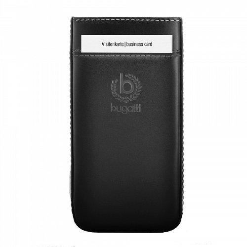 bugatti Genuine Schwarz Pure Premium Leder Case Folie In Hülle Sleeve Tasche Retail Verpackung mit Kartensteckplatz und mühelosRelease-Technik geeignet für Amazon Fire Phone
