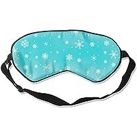 Schlafmaske, weiße Schneeflocken auf Türkis, bequem, tiefe Augenmasken, leicht, Nachtblinder für Reisen, Flugzeug... preisvergleich bei billige-tabletten.eu