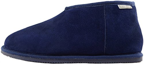Snugrugs Herren Benji, Sheepskin Slipper Boot Hausschuhe Blau