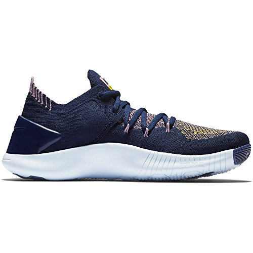 NIKE Damen Wmnsfree Tr Flyknit 3 Sneakers, Mehrfarbig College Navy/Blue Tint 001, 39 EU