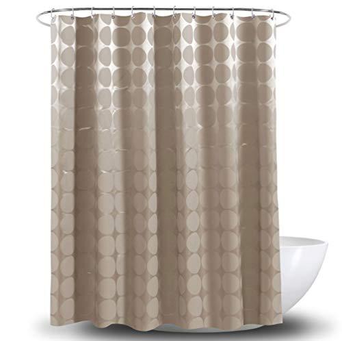 SUIWO Duschvorhang Uphome Gewebe-Duschvorhang wasserdicht Polyester-Brown-Farbe Schimmel