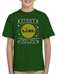 Coto7 Every Lidl Helps Christmas Knit Pattern Kids T-Shirt