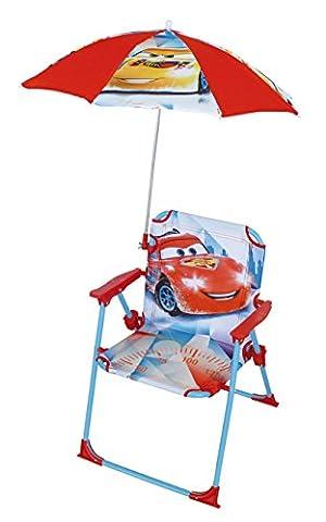 Fun House 712342 Cars Chaise Pliante avec Parasol pour Enfant