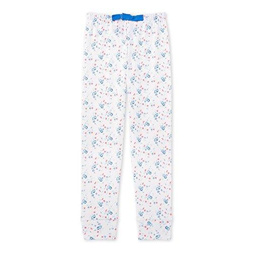 Petit Bateau Mädchen Schlafanzughose Pantalon nuit_22571, Mehrfarbig (Ecume/Bleu/Multico 61), 128 (8ans/128cm)