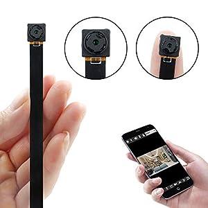 objetos con camara oculta: Mini Cámara WiFi, UYIKOO HD 1080P Cámara Espía con Detección de Movimiento P2P W...