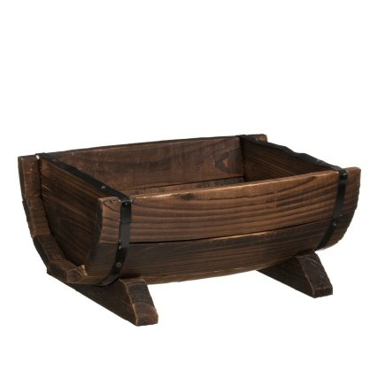 hand-crafted-burntwood-half-barrel-planter-by-onlinediscountstore