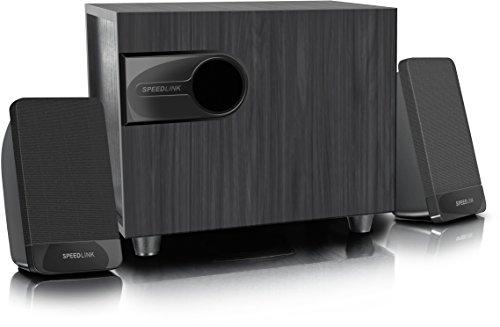 Speedlink 2.1-PC-Lautsprechersystem / Sound-System / PC-Lautsprecher / Speakers - LIBITONE 2.1 (Bassreflex-Subwoofer - Multimedia-Eignung) für Computer / Laptop / Smartphone / Tablet schwarz