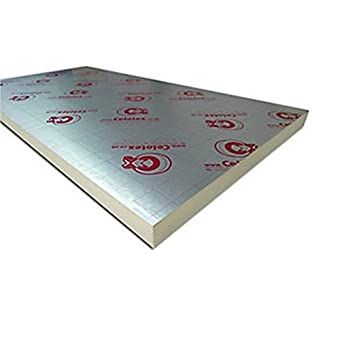 Pack of 9 Celotex Insulation Board GA4075 2400mm x 1200mm x 75mm by Celotex