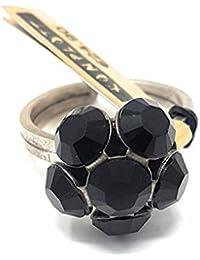 KONPLOTT Disco Balls Ring verstellbar, Glas schwarz -5450527598583