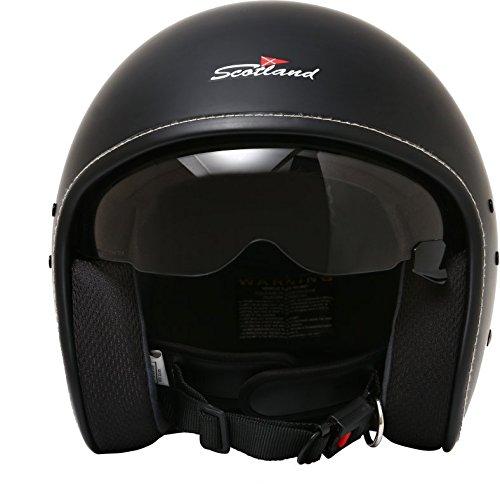 Rodeo-Drive-Casco-Moto-Bandit-Caf-Racer-Nero-Opaco-Taglia-M