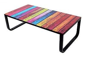 Table basse verre trempé Rainbow -PEGANE-