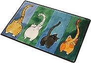 Superfast Cute Cat Butt Bedroom Area Rug, Cat Carpet,Cat Tail Non-Slip Absorbent Doormats for Bedroom Living R