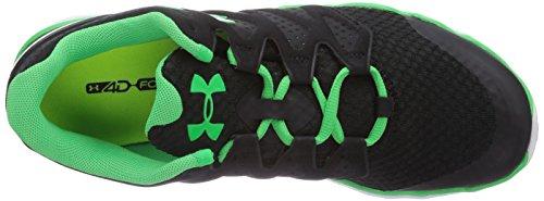 Under Armour Micro G Optimum, Chaussures de running homme Noir - Noir (Noir/Blanc/Gris 003)