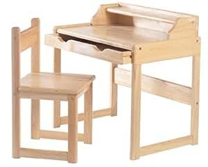 Dominoes Academy Bureau Et Chaise En Bois De Pin Pour Les