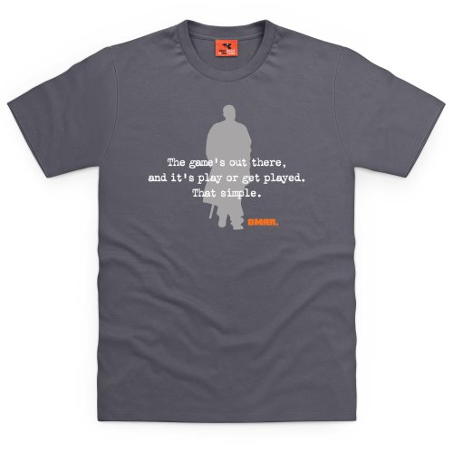 Official The Wire T-Shirt - Omar Played, Herren Anthrazit