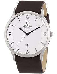 Obaku Harmony V132X CIRN - Reloj de caballero de cuarzo, correa de piel color marrón