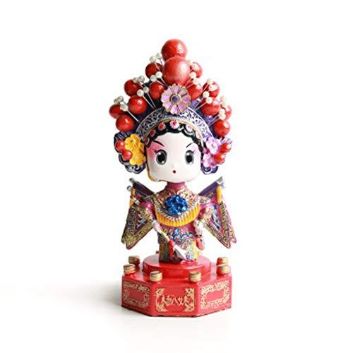 AZBYC Geschenke, Dekoration Souvenir Und Handwerk Ornamente, Die Peking - Oper Drama Dekorationen, Schüttelt Kopf Im Chinesischen Stil Folk - Handwerk