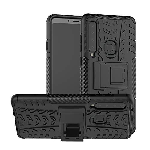 KISCO für Samsung Galaxy A9 2018/A9 Star Pro/A9S Hülle,Stoßfest Hybrid PC und TPU Cover mit Kickstand Tablet Cover Schutzhülle für Samsung Galaxy A9 2018/A9 Star Pro/A9S-Schwarz