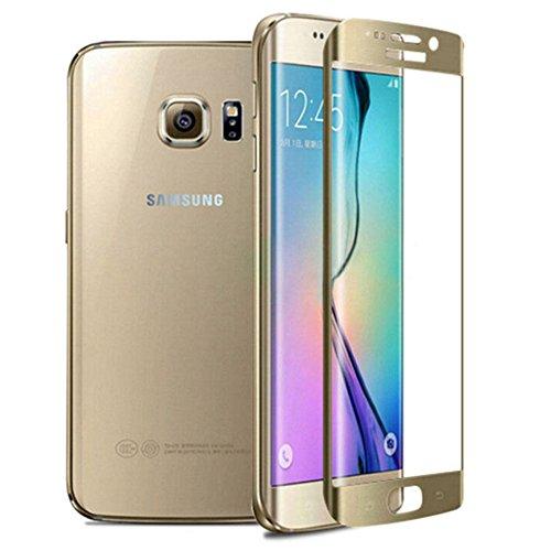 Schutzglas Folie für Samsung Galaxy S7 Edge SM-G935F 5.5 Display Schutz 9H Schutzglas Smartphone (Farbe: gold) NEU