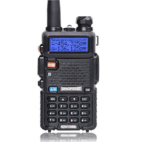 Z-DJJ Wireless Walkie - UV-5R Bidirezionale Antipolvere E Antiurto,CTCSS DCS FM Walkie-Talkie Wireless Radio Amatoriale Radio A Doppia Frequenza con Display A LED E Altoparlante