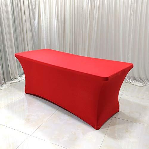 HOMEJYMADE Stretch Spandex Tabelle Cover für rechteckige tische,In ihrem zuhause Bankett Messe Tischdecke für Standard klapptische Schwarz-B 122 * 76 * 76CM -