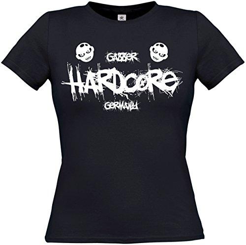 Textildruck Universum Ladies T-Shirt Gabber Hardcore Germany