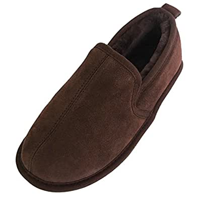 3bb70be20de Mens Luxury Soft Sole Sheepskin Slippers  Amazon.co.uk  Shoes   Bags