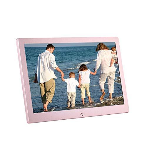 WANGOFUN Digitaler Bilderrahmen 10 Zoll, digitaler Bilderrahmen mit Uhrkalender elektronisches Foto mit Musik-Video-Player Mutterfreund,Pink