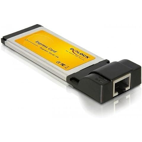DeLOCK Gigabit Ethernet ExpressCard Adapter - Accesorio de red (10/100/1000 Mbps, IEEE 802.3, IEEE 802.3u, IEEE 802.3ab, Alámbrico, Windows 2000/XP/Server 2003/Vista)