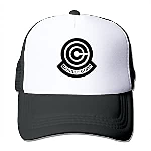 Huseki Dragon Ball Z Capsule Corp Logo Fashion Cool Mesh Cap Hats ... 11b09573212