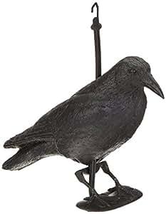 brema figurine de jardin corbeau anti pigeon et de d coration noir figurine en plastique. Black Bedroom Furniture Sets. Home Design Ideas