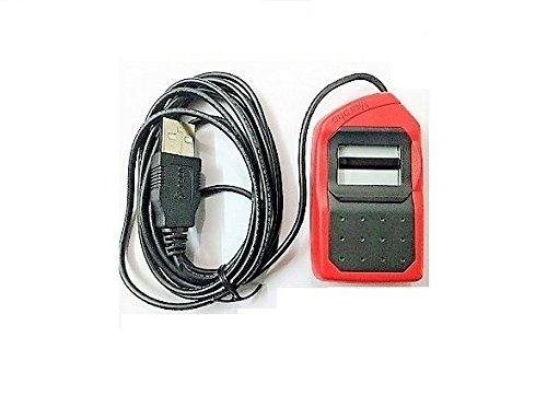 Morpho Bio-metric Fingerprint Scanner, MSO 1300 E3, Latest Version, With  USB Port, Red & Black