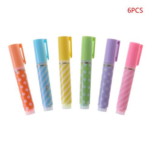 Kalttoy 6pcs Niedlicher Mini-Textmarker Pen Marker Stifte Schule Büro liefert Stationery Geschenk
