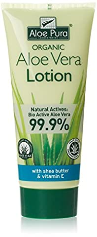 Aloe Pura Organic Aloe Vera Lotion with Shea Butter & Vitamin E, 200ml