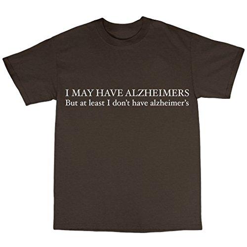 Alzheimers Funny T-Shirt Uomo Marrone