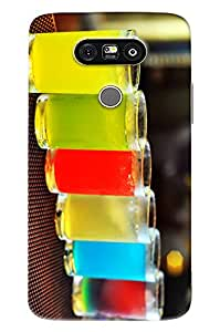 Omnam Glass Made Of Drinks Printed Back Cover Case For LG G5