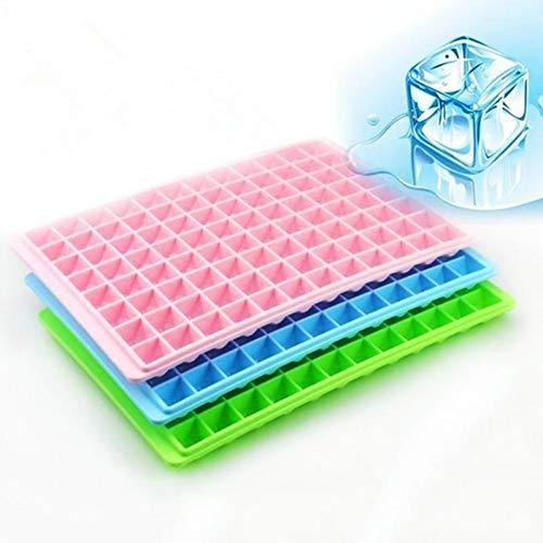 Mini Plastics Eiswürfelformschalen Cool Ice Square Mould 96 Cubes Square Ice