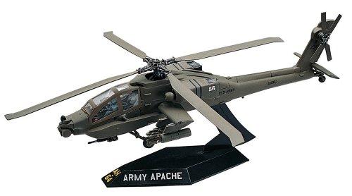 Workable Model Kit-AH-64 Apache Helicopter Desktop 1:72