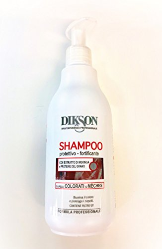 Dikson shampooing pour les cheveux et stries de couleur - avec extrait de moringa et protéines de blé - 500ml