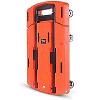 Carretilla de Mano utilitaria Plegable portátil, Carro Plegable con 6 Ruedas, Carro de Carro con diseño de Barra de Tiro Oculta y chasis extendido para comestibles (Color : Orange)