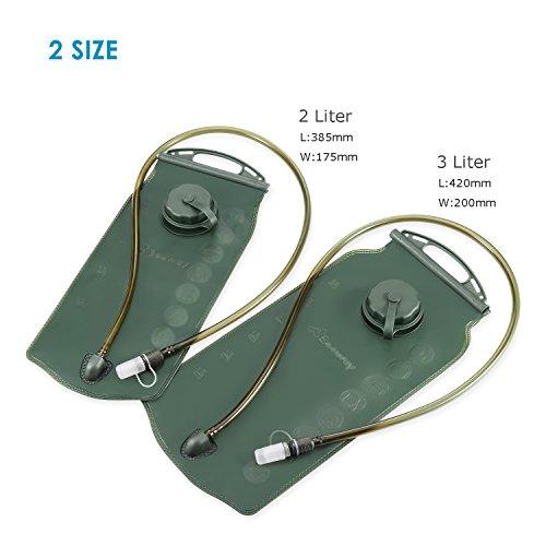 Beeway Trinkblase, 2Liter/ 3Liter, geeignet für Trinksystem-Rucksäcke, für Outdoor / Radfahren / Klettern / Wandern, BPA-frei, FDA-zertifiziert Green - 2 Liter