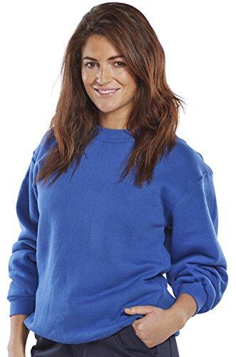 clickworkwear Rundhalsausschnitt Sweatshirt königsblau