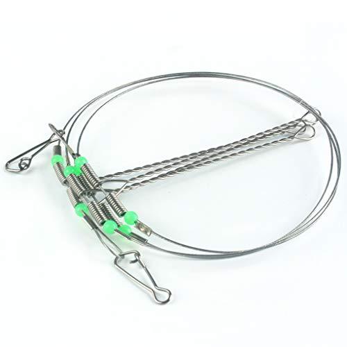 Zerama Edelstahl-Fischen-Rigs Stahlvorfächer Seil Linie Schwenker-Schnur-Haken Abgleich-Belichtungsreihe Angelausrüstung Accessorie -