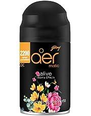 Godrej aer Smart Matic – Automatic Air Freshener Refill, Premium Fragrance - Alive (2200 sprays)